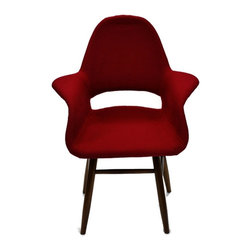 Fine Mod Imports - Mid Century Style Dining Chair In Fabric - This dining chair is a upholstered molded plywood seating shell atop four legs and its a reproduction of a well known modern design dining chair.