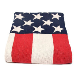 in2green - Eco American Flag Throw - Don't wait for July 4th — display your love of the red, white and blue all year-round. This patriotic throw not only looks good, but will keep you snug on cold winter nights. And yes, it's 100 percent made in the USA.