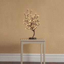 Gerson Company, The - LED 22-Inch Lighted Blossom Tree - Brighten up any room, counter, or tabletop with this lovely lighted blossom tree. Made of steel with a solid base and features 64 long-lasting LED lights and UL adapter.