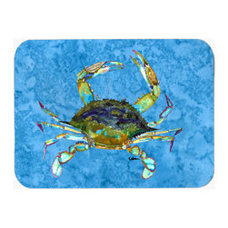 Caroline's Treasures - Crab Kitchen Or Bath Mat 20X30 8656 - Kitchen / Bath Mat 20x30 - 20 inches by 30 inches. Permanently dyed and fade resistant. Great for the Kitchen, Bath, outside the hot tub or just in the door from the swimming pool.    Use a garden hose or power washer to chase the dirt off of the mat.  Do not scrub with a brush.  Use the Vacuum on floor setting.  Made in the USA.  Clean stain with a cleaner that does not produce suds.