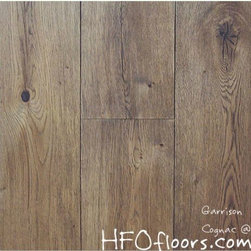 Garrison French Connection - French Connection Cognac wire-brushed white oak hardwood. Available at HFOfloors.com.