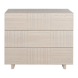 Safavieh - Mitch Cabinet - Evoking mid-century modern style for the contemporary eye, the Mitch cabinet boasts a distinctive look with inverted carved lines for a graphic patchwork look.  The trend to natural wood furnishings is exemplified in a grey wash finish.