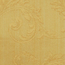Damask - Sungold Upholstery Fabric - Item #1011208-367.