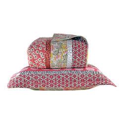 Melange Home - Kyoto Quilt Set, Full/ Queen - Kyoto Robbin Quilt Set