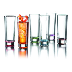 Fifth Avenue Crystal - Fifth Avenue Crystal 'Jazz Colors' Shot Glass Set (Set of 6) - Enjoy your drink with this stylish set of shot glasses from Drinkware. This set features six shot glasses with capacity of 2 ounces for each glass.