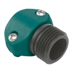 Gilmour Polymer Male Hose Coupling - Leakproof, rustproof and reusable. Premium nylon construction. Clamp design resists impact. Non-corroding stainless steel screws will not strip when tightened. Fits rubber or plastic hoses.