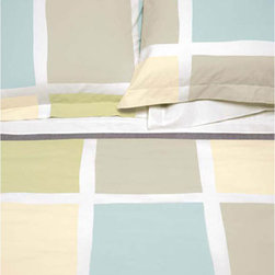 Blocks Vanilla 50% Organic Cotton Duvet Cover - High quality cotton duvet cover, made from Green materials. A great way to get a modern look with a healthy and eco-friendly product.