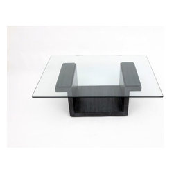 """ARTLESS - SQG Coffee Table - Features: -3/8"""" Tempered glass.-Made in USA.-Hand rubbed oil solid black walnut finish.-SQG collection.-Collection: SQG.-Distressed: No.-Country of Manufacture: United States.-Style: Modern.-Top Finish: Glass.-Powder Coated Finish: No.-Gloss Finish: No.-Wrought Iron: No.-Top Material: Glass.-Base Material: Wood.-Base Type: Pedestal.-Solid Wood Construction: Yes.-Number of Items Included: 1.-Non-Toxic: Yes.-UV Resistant: Yes.-Weather Resistant : No.-Stain Resistant: Yes.-Moisture Resistant: Yes.-Design: Table.-Drop Leaf: No.-Shape: Rectangle.-Lift Top: No.-Tray Top: No.-Storage Under Tabletop: No.-Folding: No.-Built In Clock: No.-Powered: No.-Casters: No.-Exterior Shelves: No.-Cabinets Included: No.-Drawers Included: No.-Corner Block: No.-Adjustable Height: No.-Glass Component: Yes -Tempered Glass: Yes.-Beveled Glass: No.-Frosted Glass: No..-Upholstered: No.-Outdoor Use: No.-Weight Capacity: 30.-Swatch Available: No.-Commercial Use: Yes.-Recycled Content: No.-Eco-Friendly: Yes.-Wood Tone (Finish: White Oak): Light Wood.-Wood Tone (Finish: Walnut): Dark Wood.-Wood Tone (Finish: Graphite Oak): Dark Wood.-Hand Painted (Finish: Graphite Oak): Yes.Specifications: -CARB Certified: Yes.Dimensions: -Overall dimensions: 12.5"""" H x 48"""" W x 30"""" D.-Overall Product Weight: 70 lbs.-Table Top Thickness: 0.375.-Legs: No.-Overall Height - Top to Bottom (Size: 42"""" x 30"""" Glass Top): 14.5.-Overall Width - Side to Side (Size: 42"""" x 30"""" Glass Top): 42.-Overall Depth - Front to Back (Size: 42"""" x 30"""" Glass Top): 30.-Table Top Thickness (Size: 42"""" x 30"""" Glass Top): 0.375.-Table Top Width - Side to Side (Size: 42"""" x 30"""" Glass Top): 42.-Table Top Depth - Front to Back (Size: 42"""" x 30"""" Glass Top): 30.-Overall Height - Top to Bottom (Size: 30"""" x 22"""" Glass Top): 14.5.-Overall Width - Side to Side (Size: 30"""" x 22"""" Glass Top): 30.-Overall Depth - Front to Back (Size: 30"""" x 22"""" Glass Top): 22.-Table Top Thickness (Size: 30"""" x 22"""" Glass Top): 0.375.-Table Top Width - Side """