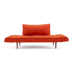 """Innovation USA - """"Innovation"""" Zeal Deluxe Basic Orange Daybed / Dark Wood ... - Create a beautiful bedroom set that you will love for years to come with the""""Innovation USA"""" Zeal Deluxe Orange Daybed. It is a perfect and affordable solution for your home. The daybed also creates an extra couch for a den or office. This product is available in White Leather Textile, Mixed Dance Light Blue, Black Leather Textile, Basic Orange andGravel colors. See more colors in theZeal Deluxe Collection below."""