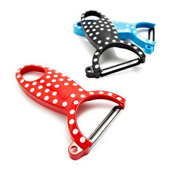 Kuhn Rikon Polka-Dot Swiss Peelers - Retro chic vegetable peelers are a necessity in every kitchen. They'll display some attitude too.