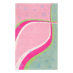 Safavieh - Safavieh Safavieh Kids Sfk338A Green / Pink Area Rug - Safavieh Safavieh Kids Sfk338A Green / Pink Area Rug