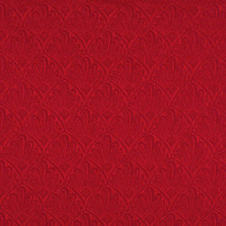 Red Two Toned Fan Upholstery Fabric By The Yard - P2211 is great for residential, and commercial applications. This fabric will exceed at least 35,000 double rubs (15,000 is considered heavy duty), and is easy to clean and maintain.