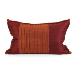 iMax - iMax IK Nodia Thai Silk Pillow w/ Down Fill X-17124 - Iffat Khan has developed a luxurious collection of down pillows with Thai silk fabrics. Iffat's refined aesthetic is evident in her collection which combines clean modern, classic casual and timeless traditional styles with her own creative twist.