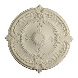 uDecor - MD-9114 Ceiling Medallion - Ceiling medallions and domes are manufactured with a dense architectural polyurethane compound (not Styrofoam) that allows it to be semi-flexible and 100% waterproof. This material is delivered pre-primed for paint. It is installed with architectural adhesive and/or finish nails. It can also be finished with caulk, spackle and your choice of paint, just like wood or MDF. A major advantage of polyurethane is that it will not expand, constrict or warp over time with changes in temperature or humidity. It's safe to install in rooms with the presence of moisture like bathrooms and kitchens. This product will not encourage the growth of mold or mildew, and it will never rot.