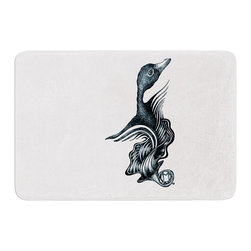 "KESS InHouse - Graham Curran ""Swan Horns"" Memory Foam Bath Mat (24"" x 36"") - These super absorbent bath mats will add comfort and style to your bathroom. These memory foam mats will feel like you are in a spa every time you step out of the shower. Available in two sizes, 17"" x 24"" and 24"" x 36"", with a .5"" thickness and non skid backing, these will fit every style of bathroom. Add comfort like never before in front of your vanity, sink, bathtub, shower or even laundry room. Machine wash cold, gentle cycle, tumble dry low or lay flat to dry. Printed on single side."