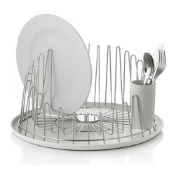 A Tempo Dish Drainer - My mother refuses to leave her dish drainer on the counter because it is so unsightly. This one is practically a piece of sculpture. I also like the compact shape for a small load.