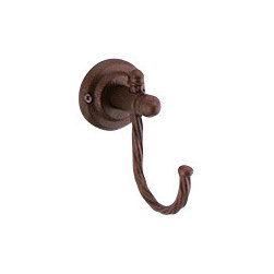Gedy - Moka Hook - Vintage style robe/towel hook made of forged iron in a moka finish.