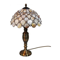 ParrotUncle - Tiffany Style Peacock Sea Shell Table Lamp - The Tiffany Lighting fixture has been a staple in interior design since the late 1800s and is still as fashionable today. As a part of the Art Nouveau movement,this Tiffany Style Peacock Sea Shell Table Lamp are a fabulous choice especially if your decor is vintage inspired or Victorian. Made up of several pieces of stained glass, these are timeless light fixtures that will never go out of style.