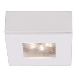 W.A.C. Lighting - W.A.C. Lighting HR-LED87S-WT LEDme Square Button Light - Designed for recessed or surface mounted installations, delivering strong light output with the latest in LED technology.