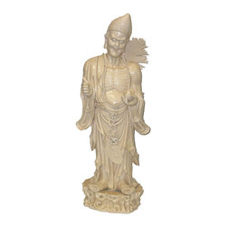 Chinese Porcelain Buddha Ji Gong Figure Statue - On SALE