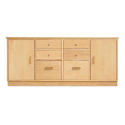 Linear 29h 67w Office Storage with Wood Base -