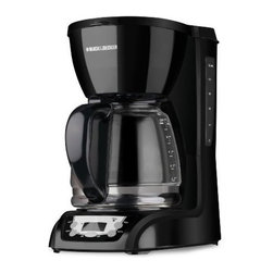 Applica - BD 12c Coffeemaker Black - Black & Decker 12-Cup Programmable Coffee Maker  black finish... Get a great cup of coffee with ease  thanks to a handy range of features including QuickTouch programming  a Sneak-A-Cup feature and our optimal brewing temperature. Plus make cleanup a snap with a removable filter basket and easy-clean control panel.   Programmable Clock  Auto Brew  Optimal Brewing Temperature  QuickTouch Programming  Easy-Clean Surface  Sneak-A-Cup Feature  2-Hour Auto Shutoff  Removable Filter Basket  Easy-View Water Window  Duralife Glass Carafe.  This item cannot be shipped to APO/FPO addresses. Please accept our apologies.