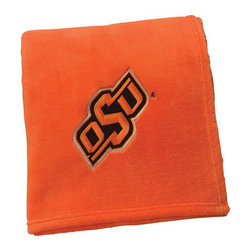 Collegiate Delight - Oklahoma State University Throw - Collegiate embroidered throws are essential components of every season. These officially licensed products make perfect gifts.