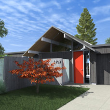 Midcentury Rendering by modern house architects