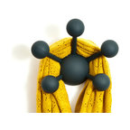 Modern Littles - Atom Solid Grey Multi Purpose Coat Hook - The Atom multi purpose coat hook introduces a burst of color to your kid's walls as well as long-lasting function for the home. Great for jackets, hats, scarves, jewelry and light toys.