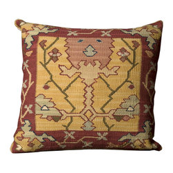 Nourison - Mina Victory Samarkand Yellow 20x 20-inch Square Decorative Pillow by Nourison - This luxury home accent is inspired by modern lifestyles and a global perspective. The Samarkand pillow adds texture,dimension,color and high fashion to the home.
