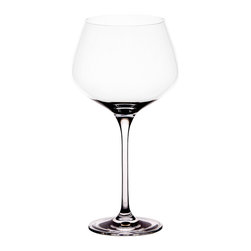 Berghoff - Berghoff Chateau 24 oz Burgundy Set of 6 - Set of 6 - 24oz Burgundy wine glass. This glass has a bigger bowl than a Bordeaux glass to accumulate aromas of more delicate red wines (Pinot Noir). This style of glass directs wine to the tip of the tongue.