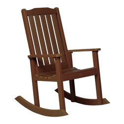 Phat Tommy - Eco-Friendly Rocking Chair in Acorn - If you seek the natural look of wood, but would like a product that can be left outside year after year without the maintenance headaches of real-wood, then Highwood is for you. These pieces are a beautiful, elegant and durable choice for your outdoor living space.