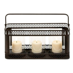 Benzara - Candle Holder in Black Finish with Solid Construction - Infuse life into your room with this gorgeous metal candle holder. The rectangular shape helps to keep nearly three to four candles together that helps in offering a bright light to your room. Made of the finest quality metal, this candle holder is finished in a classic black color finish that makes it look elegant and contemporary. Create a perfect candle light dinner romantic atmosphere in the brightness of this candle holder. Place it on the table or hang it up at the wall, it is sure to add glamour to your evenings. Place it anywhere you like to give the surroundings a distinctive appeal. When the mood is complemented with the light of fragrant candles in this beautiful candle holder, the mood is sure to be lifted up.