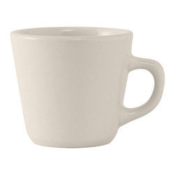 Tuxton - Reno/Nevada 7 oz Tall Cup Eggshell American White - Case of 36 - To handle the demands of fastpaced establishments the Reno and Nevada collections embody clean lines durability and value. Casual dining never looked so good and with all the accessory items it is a perfect match!
