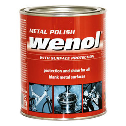 Wenol - Wenol All Metal Polish, 1000 Ml Can, Qty 1 - Made using the most advanced technology, Wenol Metal Polish is an innovative cleaner and shiner for metallic surfaces and articles. The modern formula works effectively to help remove the toughest stain from the metal surface and hence resulting in a fine glossy finish that is as good as new. Wenol Metal Polish is a complete one-product solution for cleaning and restoring the gleam for worn out, oxidized, rusted, discolored metal surfaces. Use Wenol Red to clean the surface and polish it with  Wenol Blue for a brand new makeover of old metallic objects. Restore the original finish for vessels, bathroom accessories, car wheels, and a score of other such things with super-formulated Wenol Metal Polish.