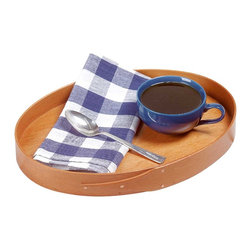 """Renovators Supply - Trays Small Oval Wood Shaker Tray USA 14 1/2"""" L x 11 1/2"""" W - Tray features finger joints and traditional metal brads. 14 1/2 x 11 1/2""""."""