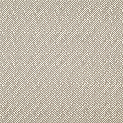 "Ballard Designs - Milina Pewter Fabric by the Yard - Content: 61% rayon and 39% polyester. Repeat: Non-railroaded fabric with 3.47"" repeat. Care: Dry clean. Width: 54"" wide. Slightly raised pewter geometric woven in thick rayon/poly blend. .  .  .  . Because fabrics are available in whole-yard increments only, please round your yardage up to the next whole number if your project calls for fractions of a yard. To order fabric for Ballard Customer's-Own-Material (COM) items, please refer to the order instructions provided for each product.Ballard offers free fabric swatches: $5.95 Shipping and Processing, ten swatch maximum. Sorry, cut fabric is non-returnable."