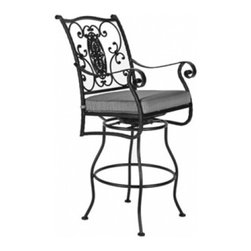 San Cristobal Swivel Bar Stool With Arms - Available in counter stool option