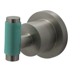 Kingston Brass - BA8217SNDGL Green Eden 2-1/2 inch Robe Hook With Neoprene Sleeve, Satin Nickel - The perfect way to give the finishing touches to your bathroom is by adding these matching bath accessories, all with matching Neoprene inserts, available in Polished Chrome and satin Nickel.; High Quality Brass Construction; Fine Artistic Craftsmanship; Green Neoprene handle for a great grip and easy clean-up; Easy Installation; Mounting Hardware Included; Material: Brass; Finish: Satin Nickel; Collection: Green Eden