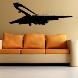 StickONmania - Plane Landing Sticker - A nice vinyl sticker and wall art design for your home  Decorate your home with original vinyl decals made to order in our shop located in the USA. We only use the best equipment and materials to guarantee the everlasting quality of each vinyl sticker. Our original wall art design stickers are easy to apply on most flat surfaces, including slightly textured walls, windows, mirrors, or any smooth surface. Some wall decals may come in multiple pieces due to the size of the design, different sizes of most of our vinyl stickers are available, please message us for a quote. Interior wall decor stickers come with a MATTE finish that is easier to remove from painted surfaces but Exterior stickers for cars,  bathrooms and refrigerators come with a stickier GLOSSY finish that can also be used for exterior purposes. We DO NOT recommend using glossy finish stickers on walls. All of our Vinyl wall decals are removable but not re-positionable, simply peel and stick, no glue or chemicals needed. Our decals always come with instructions and if you order from Houzz we will always add a small thank you gift.