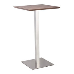 ZUO MODERN - Malmo Bar Table Walnut - Malmo Bar Table Walnut