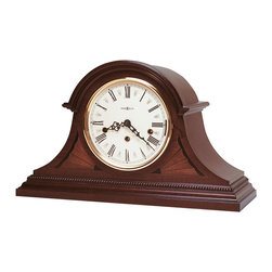 Howard Miller - Howard Miller Mahogany Key-Wound Triple Chime Mantel Clock | DOWNING - 613192 DOWNING