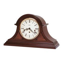 Howard Miller - Howard Miller Mahogany Key-Wound Triple Chime Mantel Clock | DOWNING - 613192 DOWNING