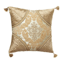 "Dian Austin Couture Home - Florentine Brocade Pillow with Silk Dupioni Corners 20""Sq. - OYSTER - Dian Austin Couture HomeFlorentine Brocade Pillow with Silk Dupioni Corners 20""Sq.Designer About Dian Austin Couture Home:Taking inspiration from fashion's most famous houses of haute couture the Dian Austin Couture Home collection features luxurious bed linens and window treatments with a high level of attention to detail. Acclaimed home designer Dian Austin introduced the collection in 2006 and seeks out extraordinary textiles from around the world crafting each piece with local California artisans."