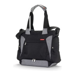 "Skip Hop - Bento Diaper Bag - Features: -Bento collection. -Material: Polyester. -BPA-Free, PVC-Free, Phthalate-Free. -Mealtime kit fits in it's own compartment: Insulated bag, freezer pack, 3 CLIX containers. -Hangs neatly on a stroller and can be worn over the shoulder. -Non-skid stroller straps fit on any stroller. -Cushioned changing pad. -Snap-together tote strap or messenger strap. -Front personal zip-pocket. -2 Insulated side bottle pockets fit extra-wide bottles. Dimensions: -13.5"" H x 17"" W x 6"" D, 3.15 lbs."