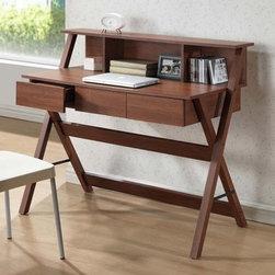 Baxton Studio Freen Sonoma Oak Finishing Modern Writing Desk -