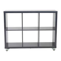 Eurostyle - Eurostyle Sabra 2X3 Storage Shelving Unit in Gray - The comforting symmetry and excellent construction is only half the story. All of these shelving units include industrial casters so that they can be easily moved. As in room dividers. Work station companions. And more. If you prefer a more permanent installation, the casters can be removed and included feet installed. Voila. What's included: Shelving Unit (1).