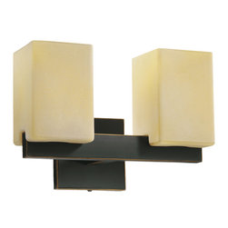 Quorum International - Quorum International 5476-2-95 Modus Old World Wall Sconce - Quorum International 5476-2-95 Modus Black Wall Sconce