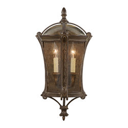 Fine Art Lamps - Gramercy Park Outdoor Coupe, 574781ST - Extend a gracious welcome to family and guests with this handsome exterior light. Inspired by one of New York's most exclusive townhouse neighborhoods, the coupe has an aged antique gold finish and seedy, amber-tinted glass.
