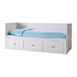 Hemnes Daybed Frame With 3 Drawers - If you are fortunate enough to have a large nursery, add a daybed to serve as an extra place to sleep. It will come in handy during nursing or if your baby is ill. It can also be a great surface for folding clothes or seating for older children so that they can sit and not feel excluded but still be out of the way.